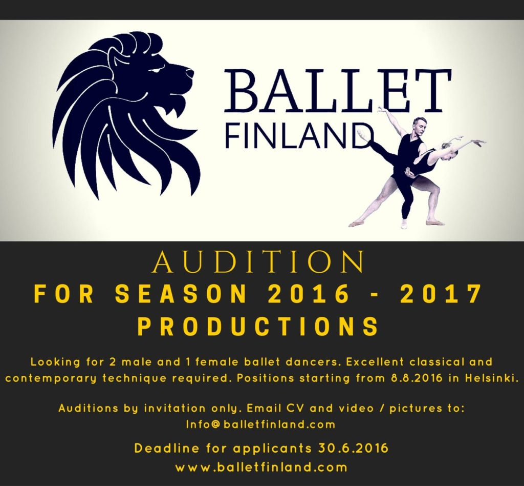 Ballet Finland Audition